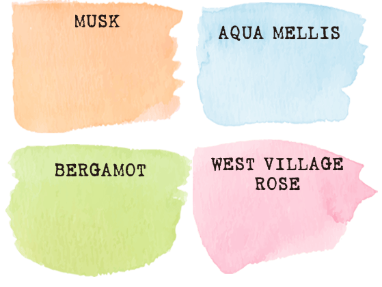 MUSK AQUA MELLIS BERGAMOT WEST VILLAGE ROSE